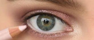 Makeup to enlarge eyes