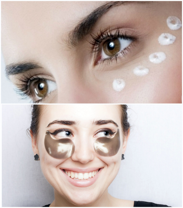Care for the delicate eyelid skin.