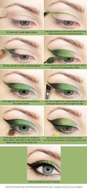 bright green shadows