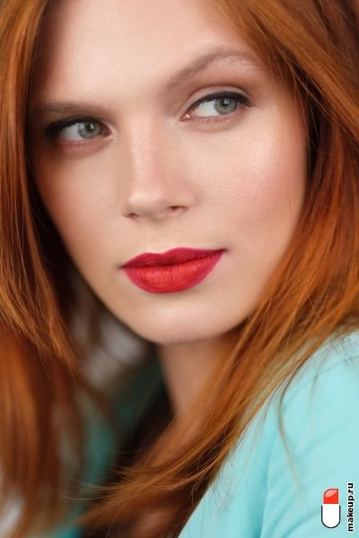 makeup with red lipstick for redheads