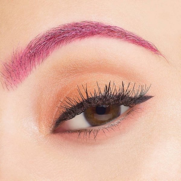 pink eyebrows
