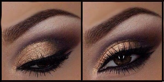 Makeup for prom for brown eyes