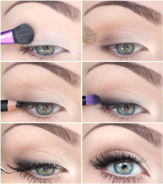 Stepping romantic makeup