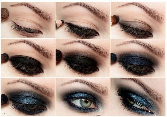 Evening make-up step by step. Smoky eyes and graphic arrows