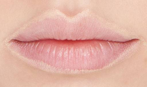 the contour of the lips